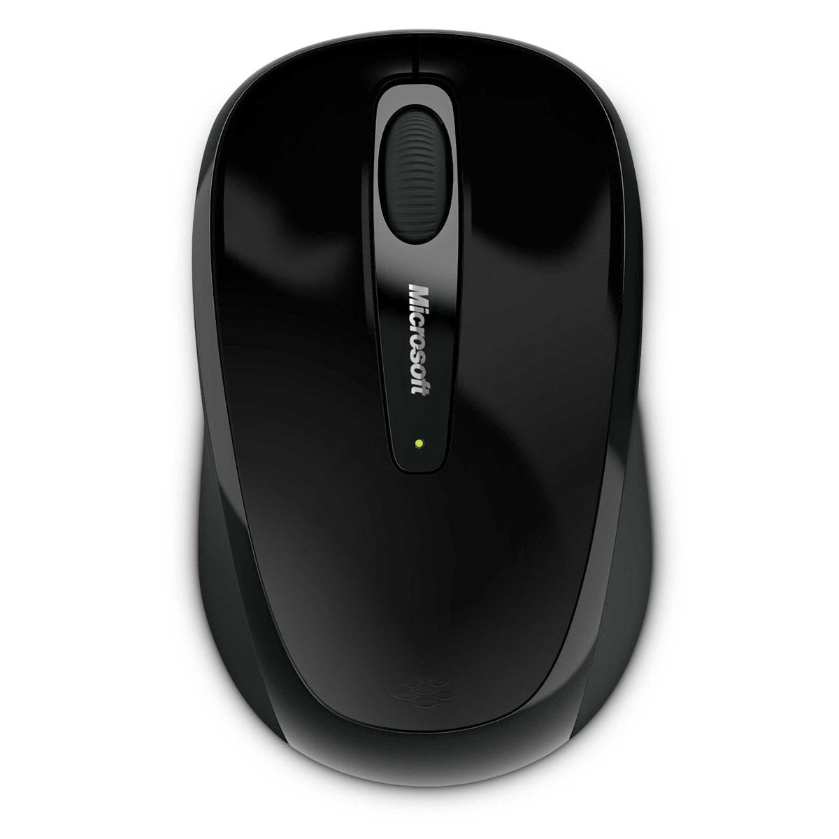 Souris PC Microsoft Wireless Mobile Mouse 3500 Noire Souris sans fil - ambidextre - capteur optique 1000 dpi - 3 boutons