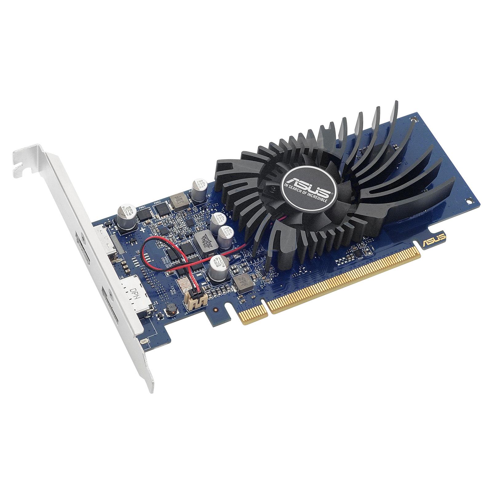 Carte graphique ASUS GeForce GT 1030 2 Go - GT1030-2G-BRK 2048 Mo DisplayPortI/HDMI - PCI Express (NVIDIA GeForce avec CUDA GT 1030)