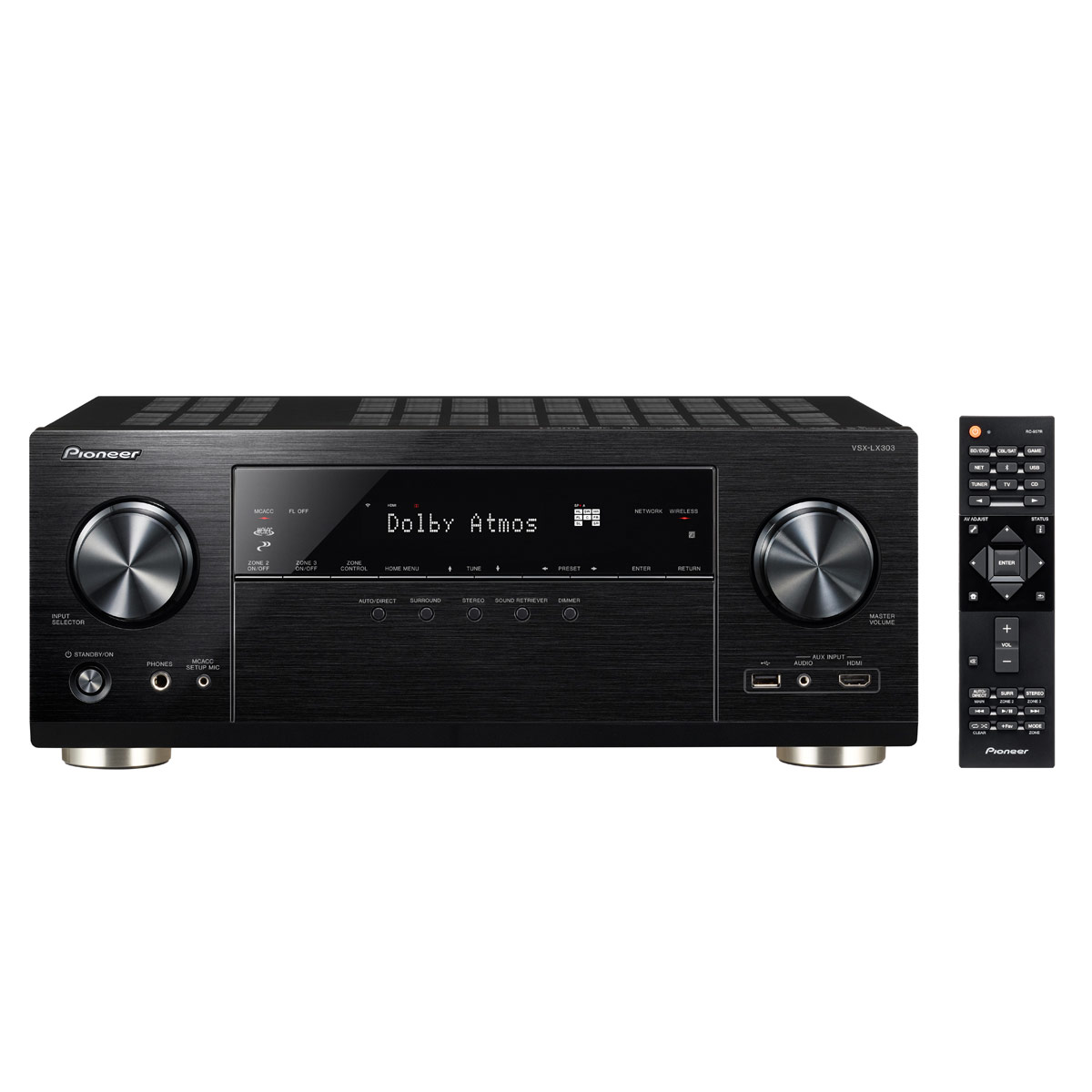 Ampli home cinéma Pioneer VSX-LX303 Noir Ampli-tuner Home Cinéma 9.2 170 Watts Multiroom, Dolby Atmos, DTS:X, HDMI 4K UHD, HDCP 2.2, HDR, Hi-Res Audio, Wi-Fi Dual Band, Bluetooth, Chromecast, DTS Play-Fi, AirPlay