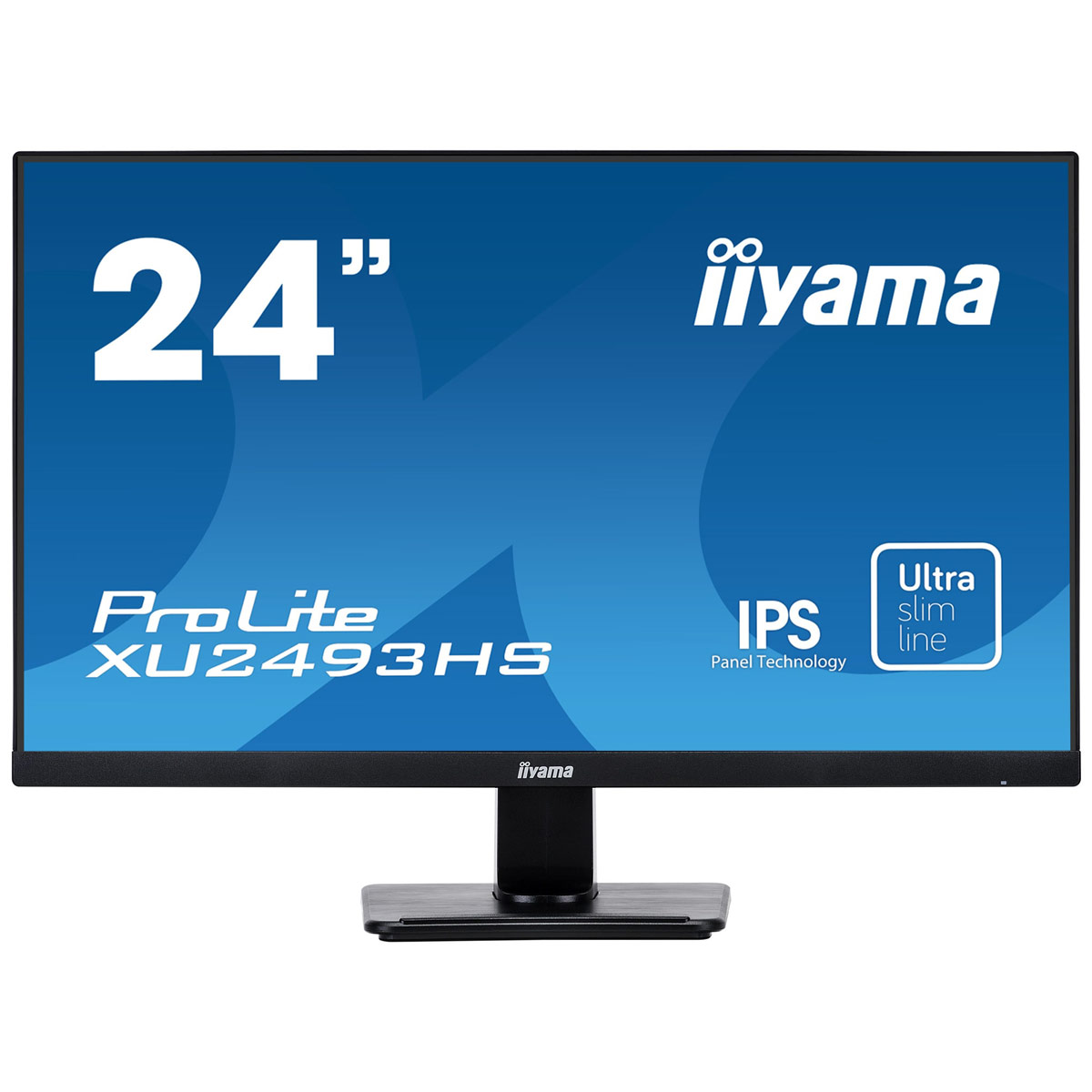 "Ecran PC iiyama 23.8"" LED - ProLite XU2493HS-B1 1920 x 1080 pixels - 4 ms - Format large 16/9 - Dalle IPS - HDMI - DisplayPort - Noir"