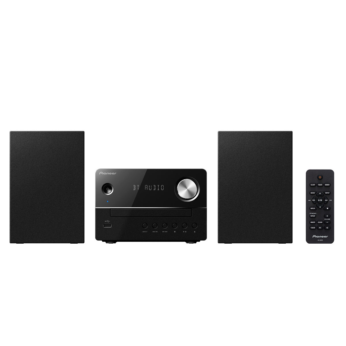 Chaîne Hifi Pioneer X-EM26 Noir Micro-chaîne 2 x 5 Watts CD MP3 FM USB Bluetooth avec entrée auxiliaire