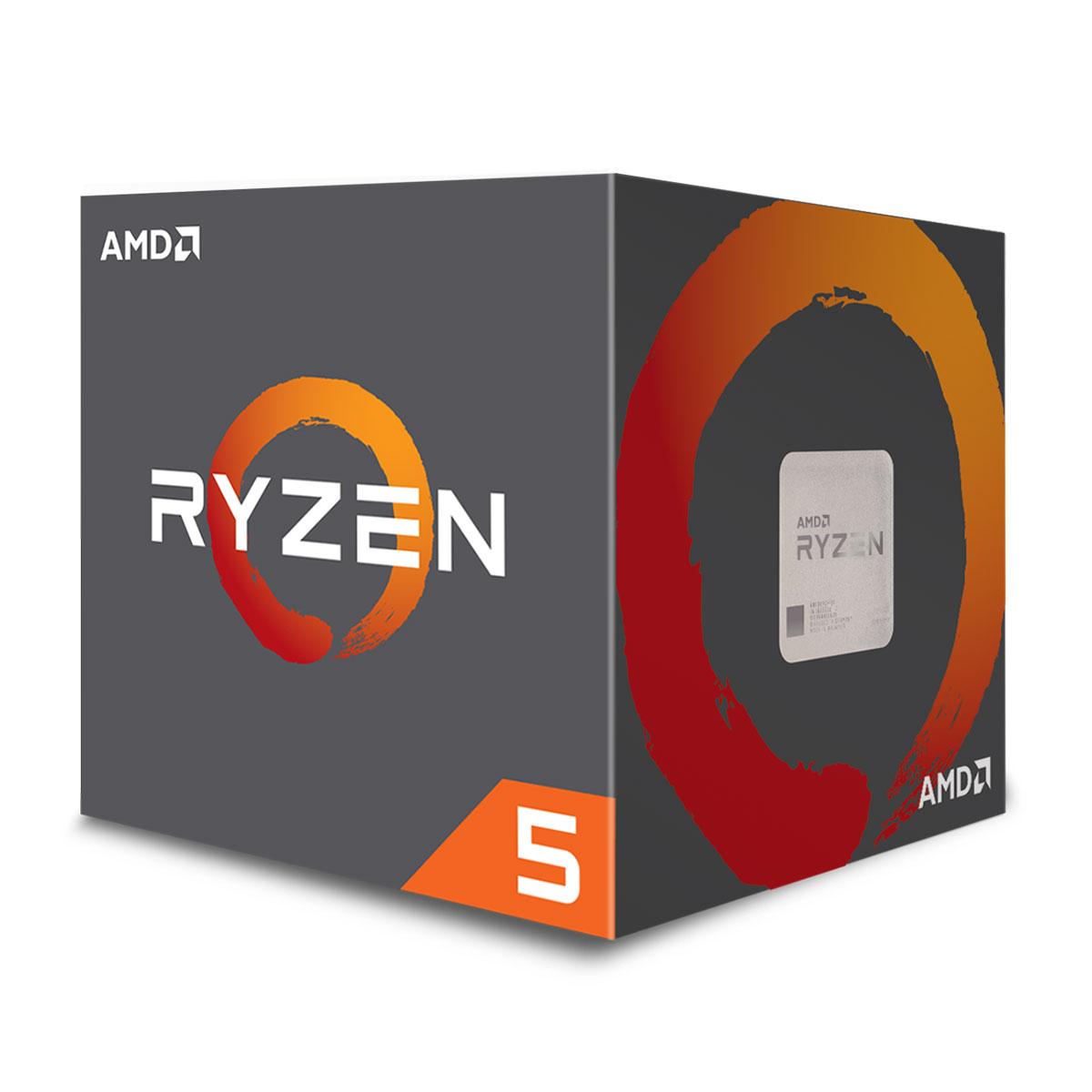 Processeur AMD Ryzen 5 2600X MAX (3.6 GHz) Processeur 6-Core socket AM4 Cache L3 16 Mo 0.012 micron TDP 95W avec système de refroidissement Wraith Max (version boîte - garantie constructeur 3 ans)
