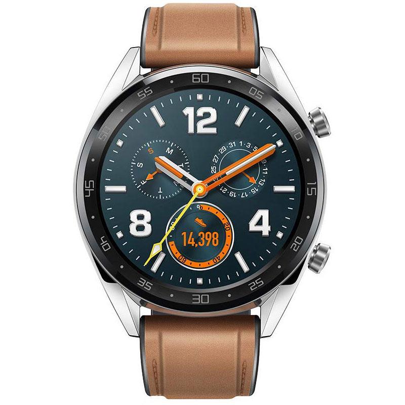 """Montre connectée Huawei Watch GT Marron Montre connectée résistante à l'eau - Bluetooth 4.2 - Ecran tactile AMOLED 1.39"""" - iOS/Android"""