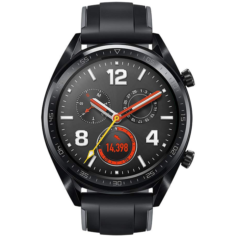 """Montre connectée Huawei Watch GT Noir Montre connectée résistante à l'eau - Bluetooth 4.2 - Ecran tactile AMOLED 1.39"""" - iOS/Android"""