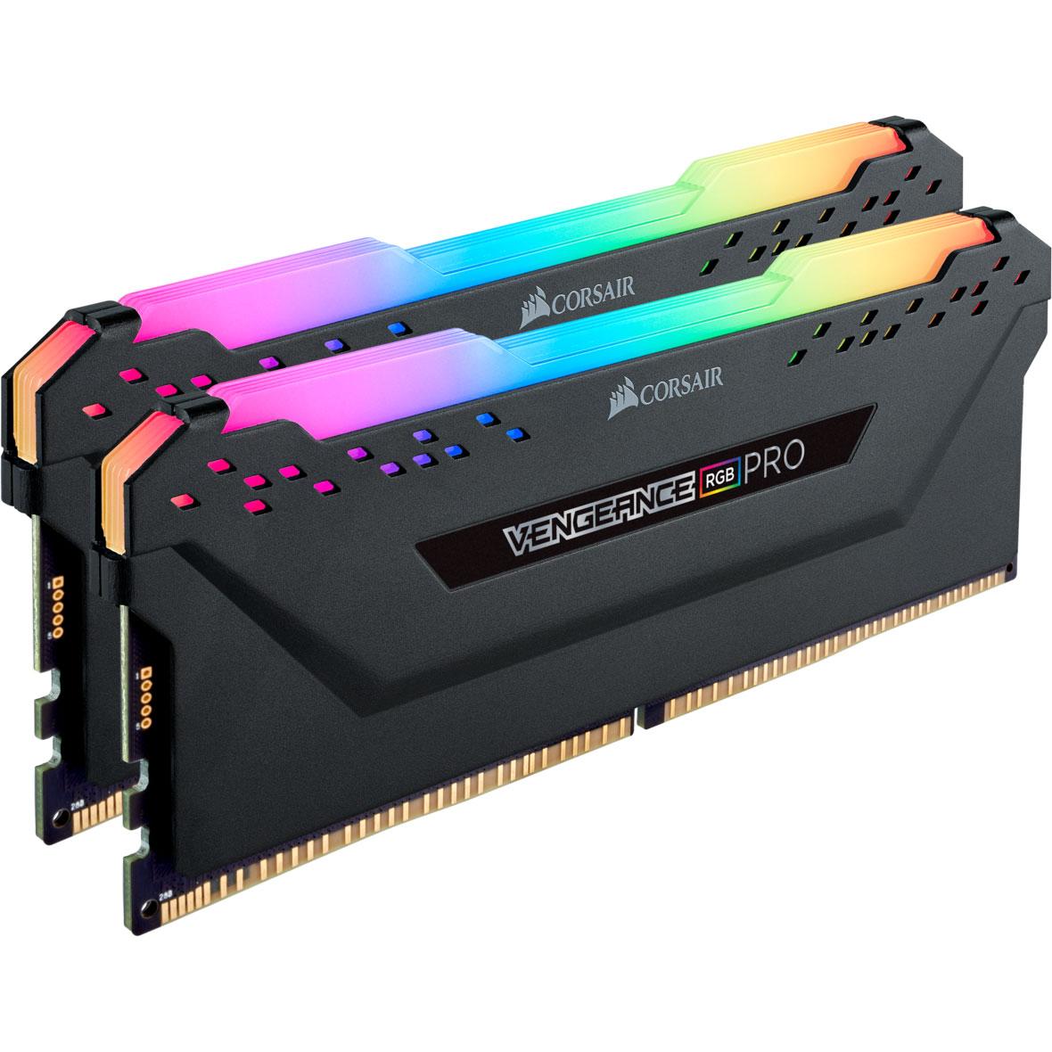 Mémoire PC Corsair Vengeance RGB PRO Series - Kit d'éclairage Kit de 2 barrettes d'éclairage format RAM DDR4