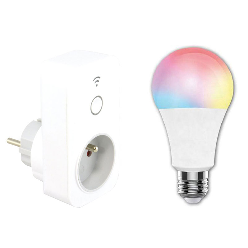 mcl pack ampoule prise connect es accessoires mcl sur. Black Bedroom Furniture Sets. Home Design Ideas