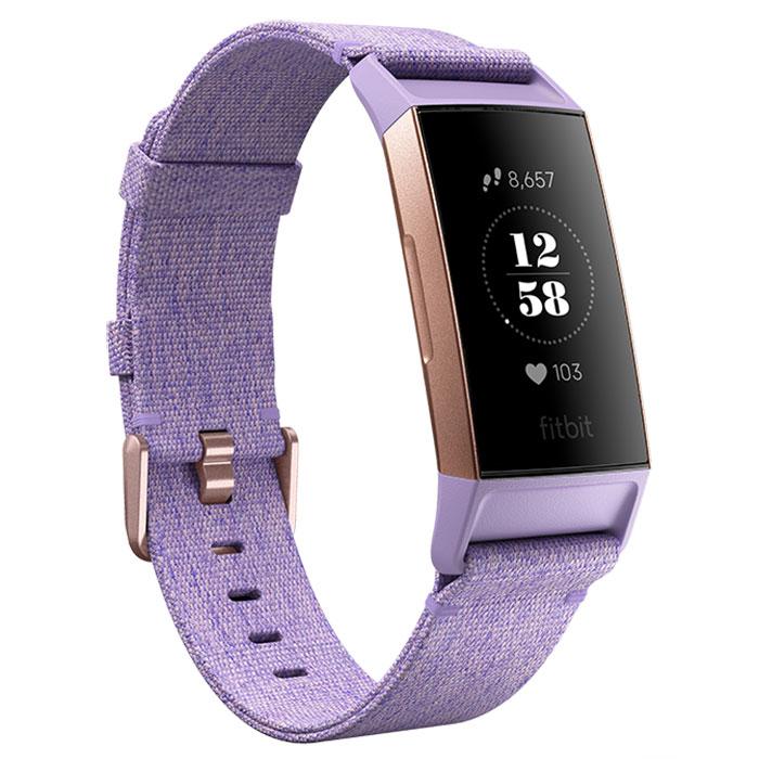 Bracelet connecté FitBit Charge 3 Édition Spéciale Lavande Coach électronique sans fil résistant aux éclaboussures pour smartphone iOS & Android (Taille S et L)