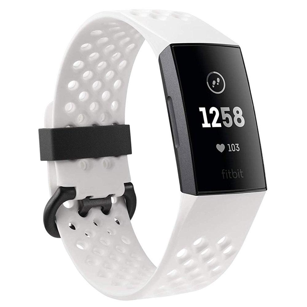 Bracelet connecté FitBit Charge 3 Édition Spéciale Graphite Blanc Coach électronique sans fil résistant aux éclaboussures pour smartphone iOS & Android (Taille S et L)