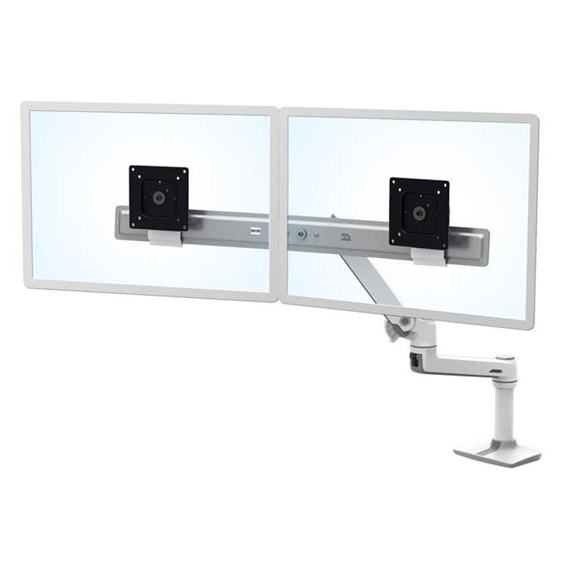 ergotron bras lx dual direct bi crans blanc 45 489 216 achat support cran pc ergotron pour. Black Bedroom Furniture Sets. Home Design Ideas