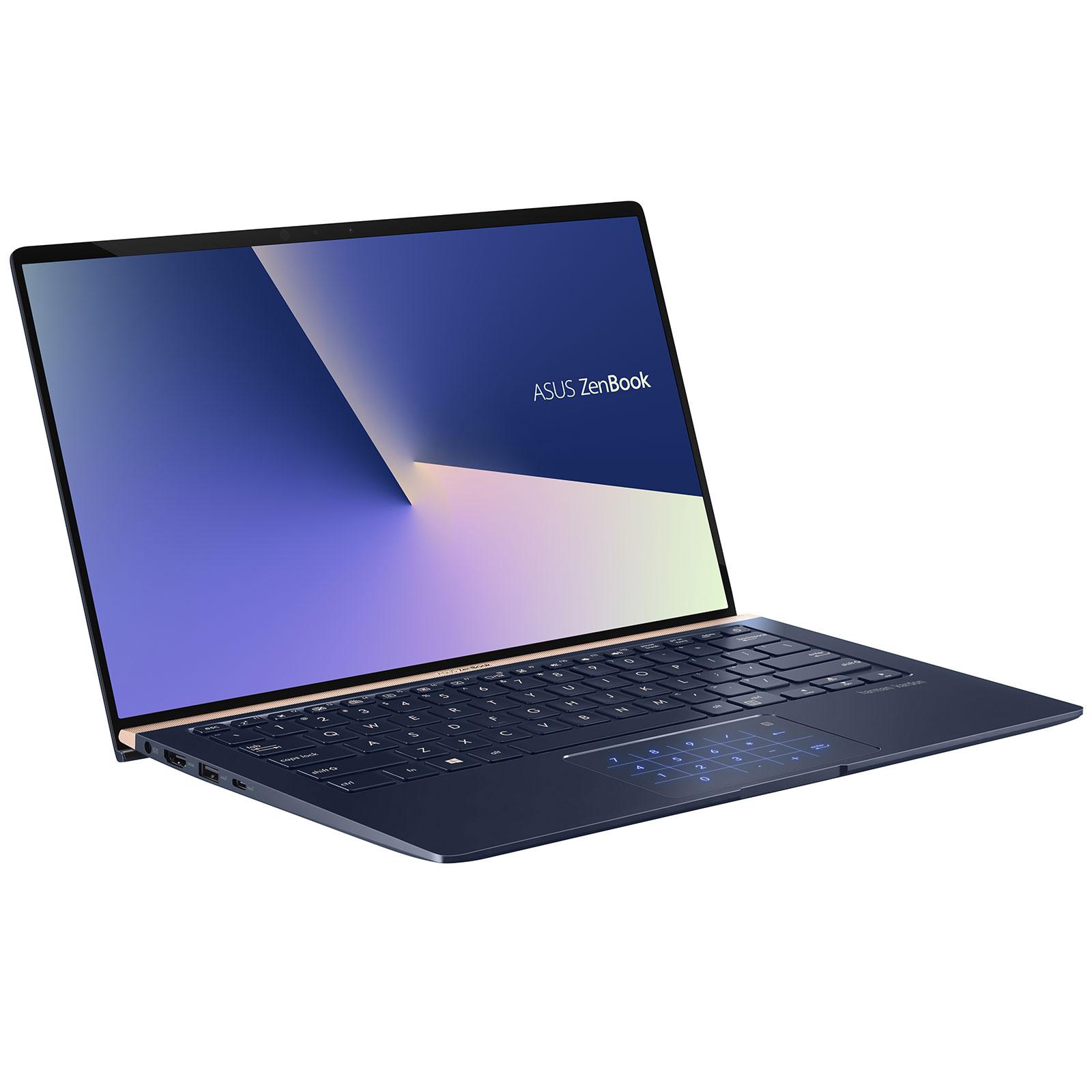 "PC portable ASUS Zenbook 14 UX433FN-A6014T Intel Core i7-8565U 16 Go SSD 512 Go 14"" LED Full HD NVIDIA GeForce MX150 Wi-Fi AC/Bluetooth Webcam Windows 10 Famille 64 bits (garantie constructeur 2 ans)"
