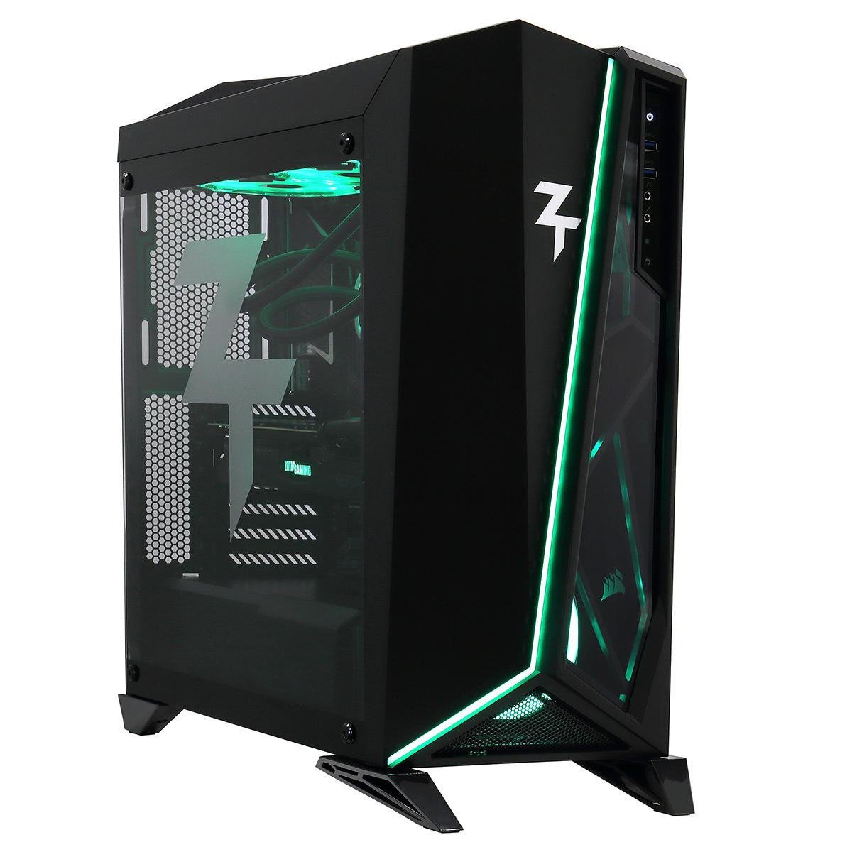 PC de bureau PC10 ZT Indépendant Intel Core i9-9900K (3.6 GHz) 16 Go SSD 480 Go + HDD 4 To NVIDIA GeForce RTX 2080 Ti 8 Go Wi-Fi AC Windows 10 Famille 64 bits (monté)