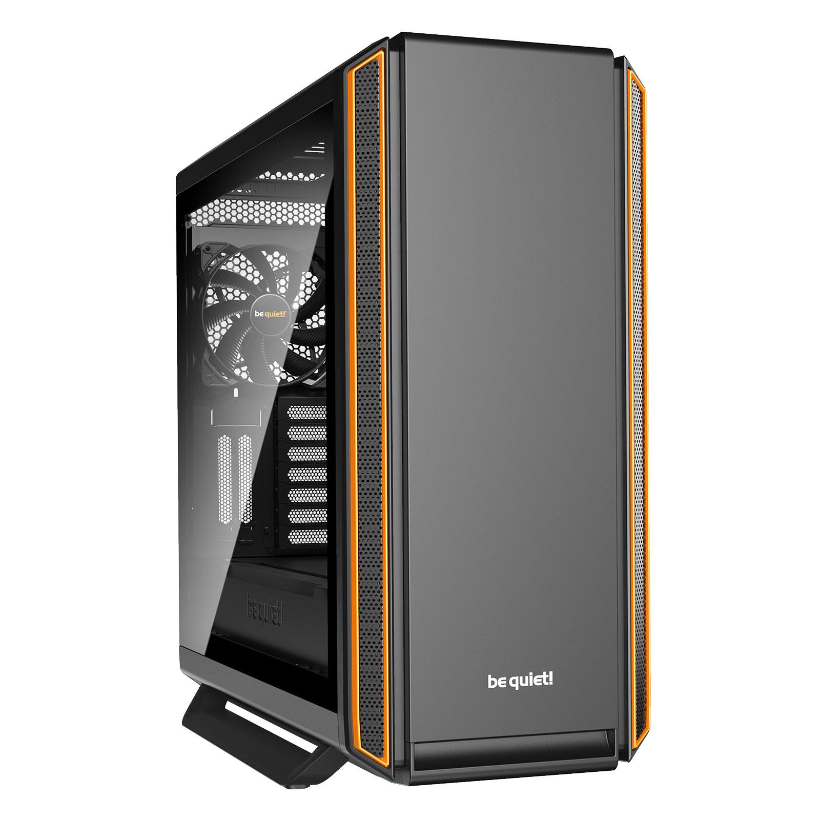 Boîtier PC be quiet! Silent Base 801 Window (Orange) Boîtier grand tour avec fenêtre latérale en verre trempé