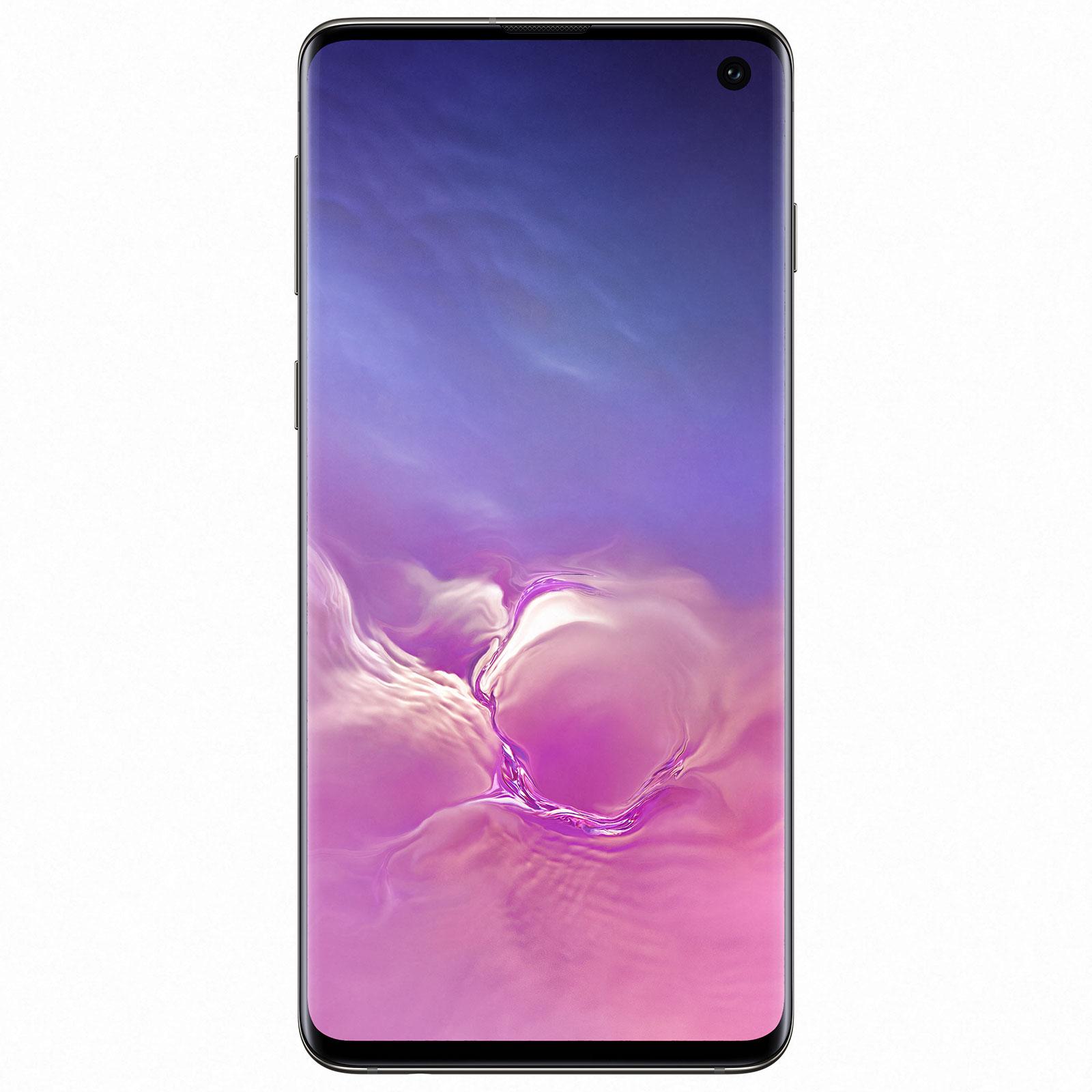 "Mobile & smartphone Samsung Galaxy S10 SM-G973F Noir Prisme (8 Go / 128 Go) Smartphone 4G-LTE Advanced Dual SIM IP68 - Exynos 9820 8-Core 2.8 GHz - RAM 8 Go - Ecran tactile Super AMOLED 6.1"" 1440 x 3040 - 128 Go - NFC/Bluetooth 5.0 - 3400 mAh - Android 9.0"
