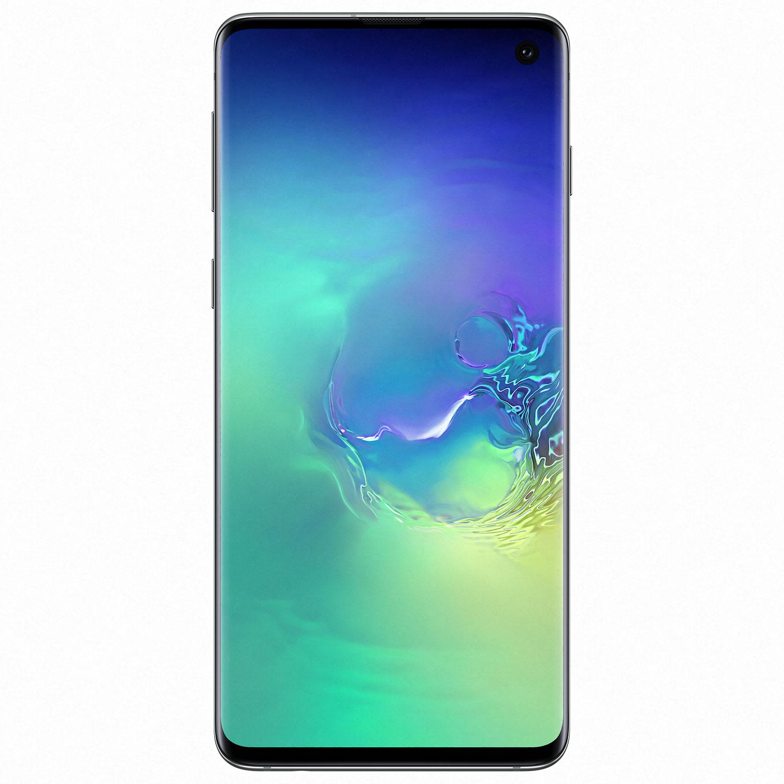 "Mobile & smartphone Samsung Galaxy S10 SM-G973F Vert Prisme (8 Go / 128 Go) Smartphone 4G-LTE Advanced Dual SIM IP68 - Exynos 9820 8-Core 2.8 GHz - RAM 8 Go - Ecran tactile Super AMOLED 6.1"" 1440 x 3040 - 128 Go - NFC/Bluetooth 5.0 - 3400 mAh - Android 9.0"