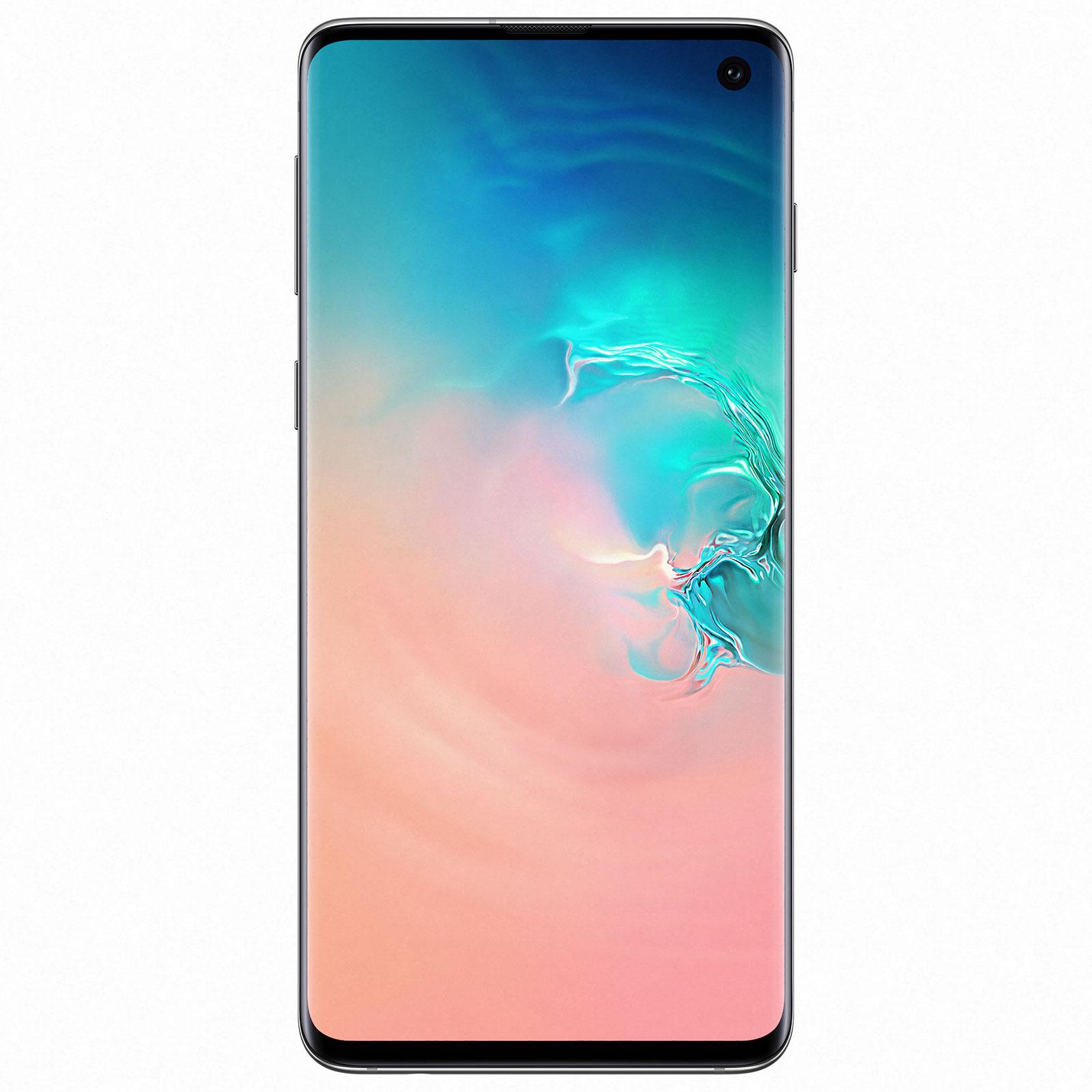 "Mobile & smartphone Samsung Galaxy S10 SM-G973F Blanc Prisme (8 Go / 512 Go) Smartphone 4G-LTE Advanced Dual SIM IP68 - Exynos 9820 8-Core 2.8 GHz - RAM 8 Go - Ecran tactile Super AMOLED 6.1"" 1440 x 3040 - 512 Go - NFC/Bluetooth 5.0 - 3400 mAh - Android 9.0"
