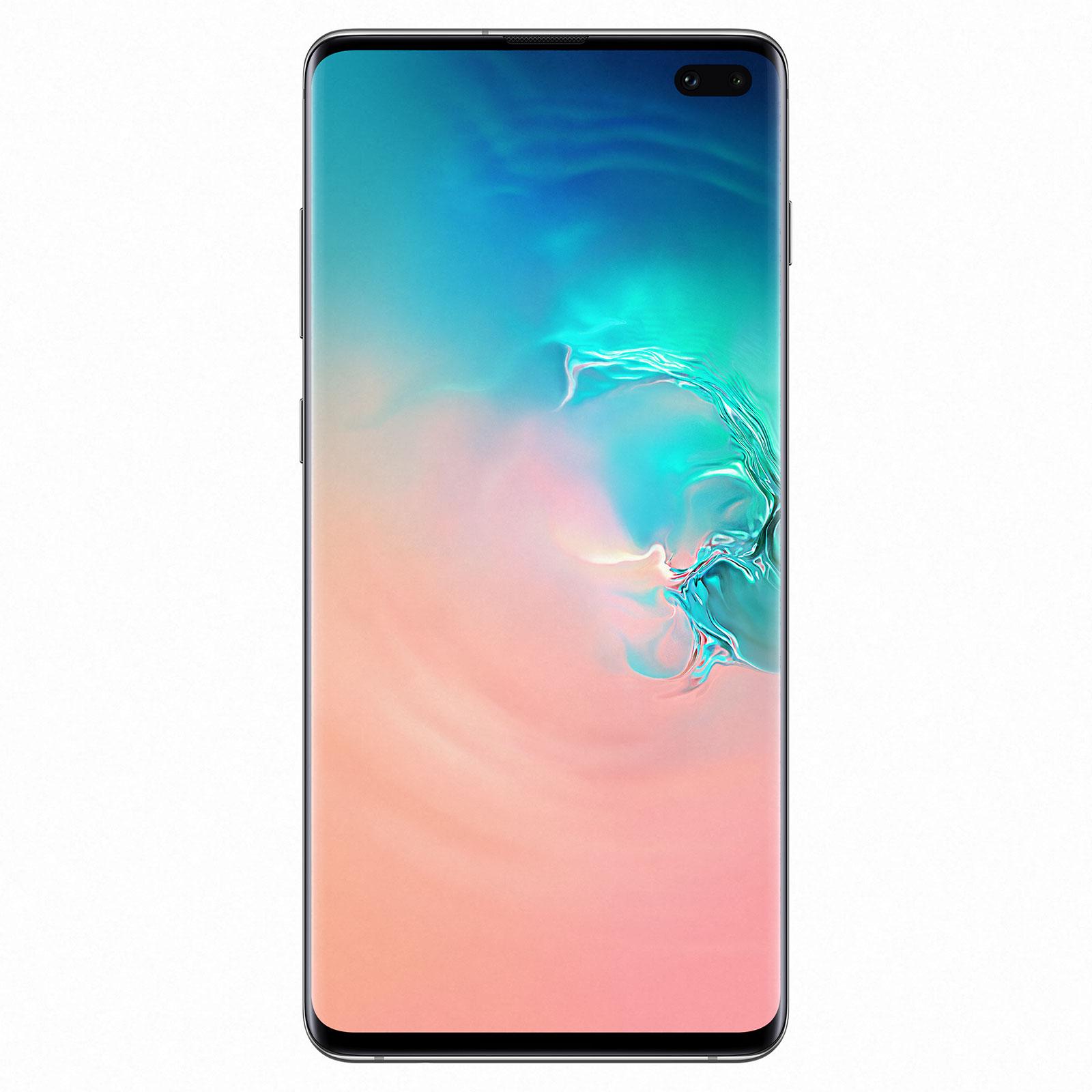 "Mobile & smartphone Samsung Galaxy S10+ SM-G975F Blanc Prisme (8 Go / 128 Go) Smartphone 4G-LTE Advanced Dual SIM IP68 - Exynos 9820 8-Core 2.8 GHz - RAM 8 Go - Ecran tactile Super AMOLED 6.4"" 1440 x 3040 - 128 Go - NFC/Bluetooth 5.0 - 4100 mAh - Android 9.0"