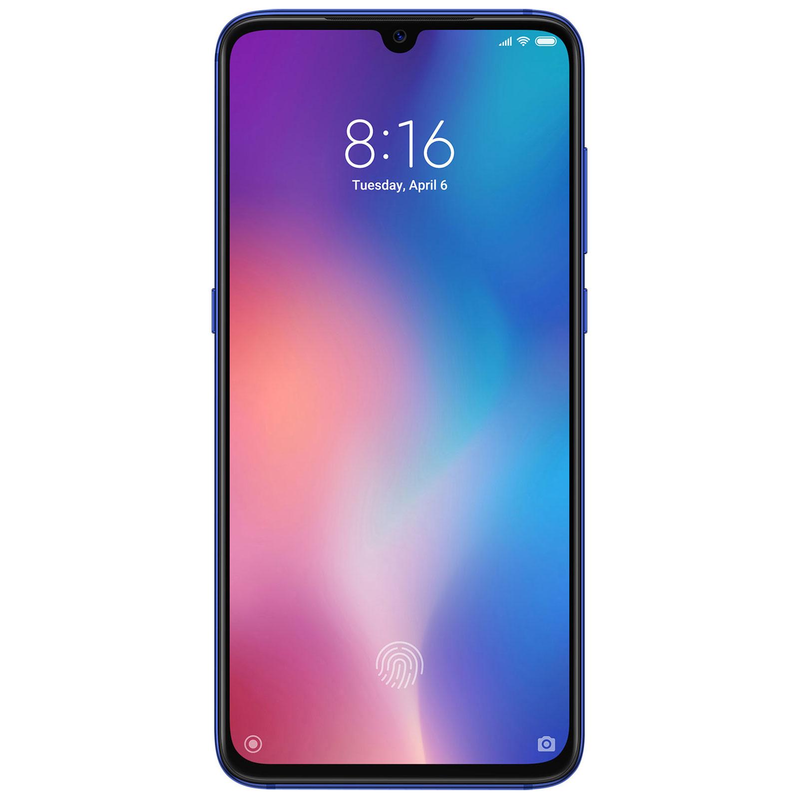 "Mobile & smartphone Xiaomi Mi 9 Bleu (64 Go) Smartphone 4G-LTE Advanced Dual SIM - Snapdragon 855 Octo-Core 2.84 GHz - RAM 6 Go - Ecran tactile AMOLED 6.39"" 1080 x 2340 - 64 Go - NFC/Bluetooth 5.0 - 3300 mAh - Android 9.0"