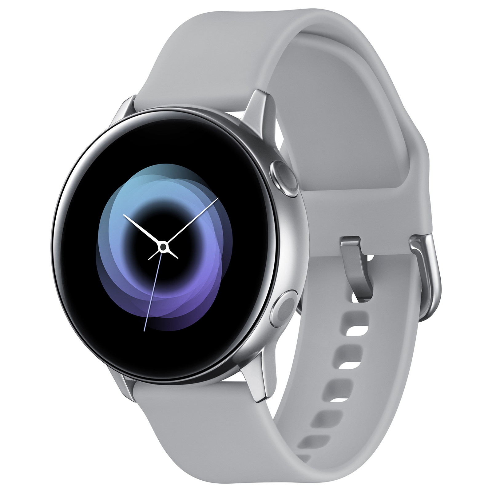 "Montre connectée Samsung Galaxy Watch Active Argent Montre connectée - certifiée IP68 - RAM 768 Mo - écran Super AMOLED 1.1"" - 4 Go - NFC/Wi-Fi/Bluetooth 4.2 - 230 mAh - Tizen OS 4.0"
