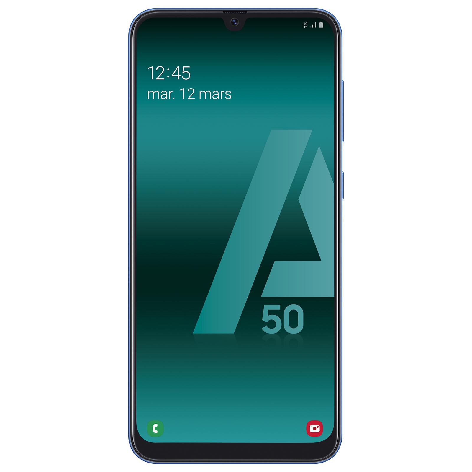 "Mobile & smartphone Samsung Galaxy A50 Bleu Smartphone 4G-LTE Dual SIM - Exynos 9610 8-Core 2.3 Ghz - RAM 4 Go - Ecran tactile Super AMOLED 6.4"" 1080 x 2340 - 128 Go - NFC/Bluetooth 5.0 - 4000 mAh - Android 9.0"