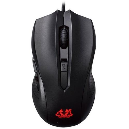 Souris PC ASUS Cerberus Mouse Souris filaire pour gamer - ambidextre - capteur optique 2500 dpi - 6 boutons - rétro-éclairage