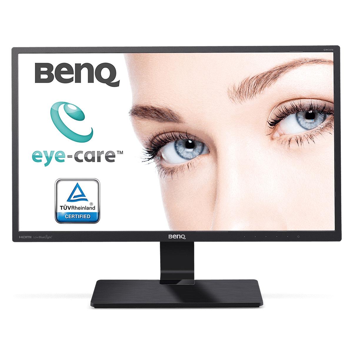 """Ecran PC BenQ 23.8"""" LED - GW2470HL 1920 x 1080 pixels - 4 ms (gris à gris) - Format large 16/9 - Dalle VA - HDMI/VGA - Noir"""