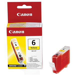 Cartouche imprimante Canon BCI-6 Y Cartouche d'encre jaune
