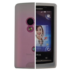Etui téléphone Sony Ericsson CA400 Blanc Housse en silicone pour Sony Xperia X10 Mini