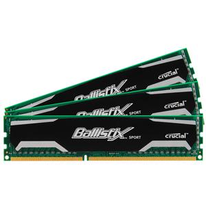 Mémoire PC Ballistix Sport 12 Go (3x 4 Go) DDR3 1333 MHz CL9 Kit Triple Channel RAM DDR3 PC10600 - BL3KIT51264BA1339 (garantie 10 ans par Crucial)
