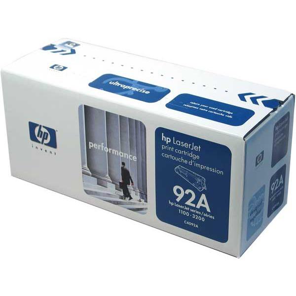 Toner imprimante HP 92A (C4092A) Toner Noir (2 500 pages à 5%)