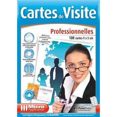 Papier Imprimante Micro Application Cartes De Visites Professionnelles 9 X