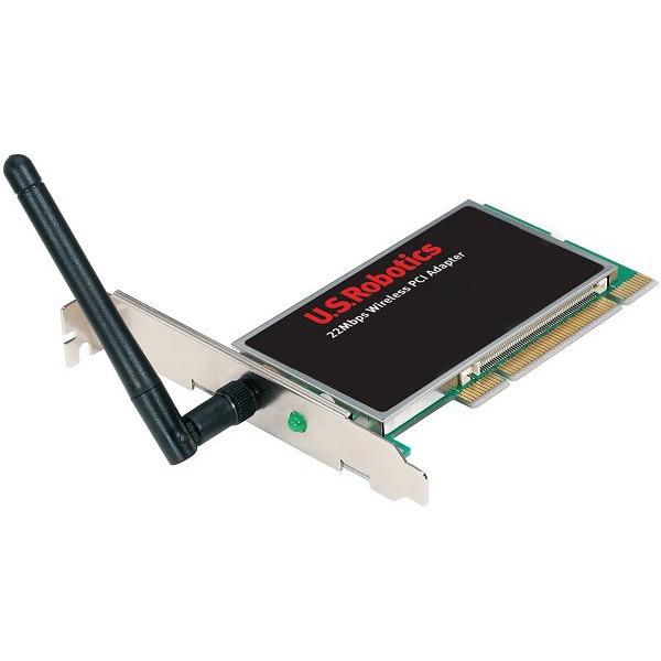 Carte réseau US Robotics 22 Mbps Wireless PCI Adaptater with Antenna US Robotics 22 Mbps Wireless PCI Adaptater with Antenna