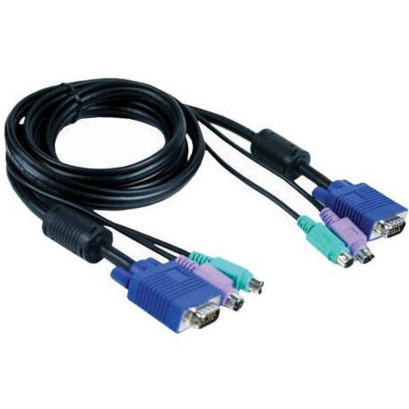 Кабель ATEN KVM Cable 2L-5205U Кабель для KVM: USB(Am)+DB15(m) (PC) -на- SPHD15(m) (KVM),5м