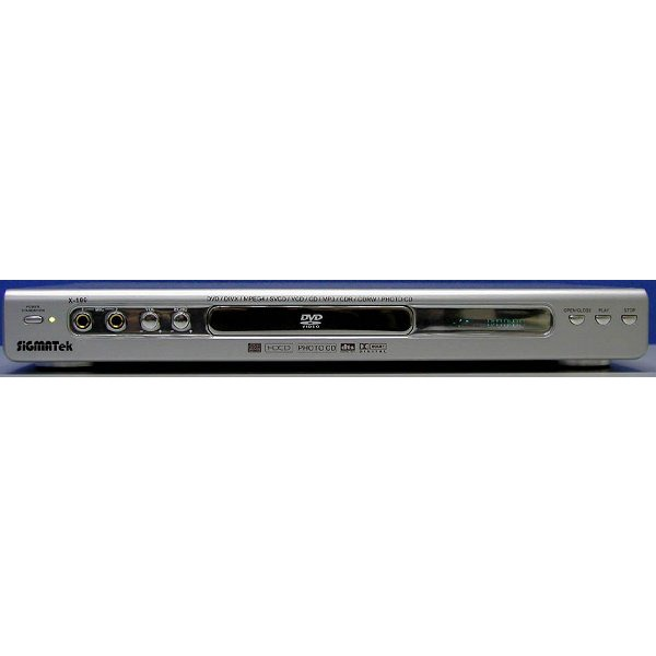 Lecteur DVD SiGMATek X-100 - Lecteur DVD/MPEG4 Slim (couleur argent) - (frais de port offert sur le lecteur) SiGMATek X-100 - Lecteur DVD/MPEG4 Slim (couleur argent) - (frais de port offert sur le lecteur)
