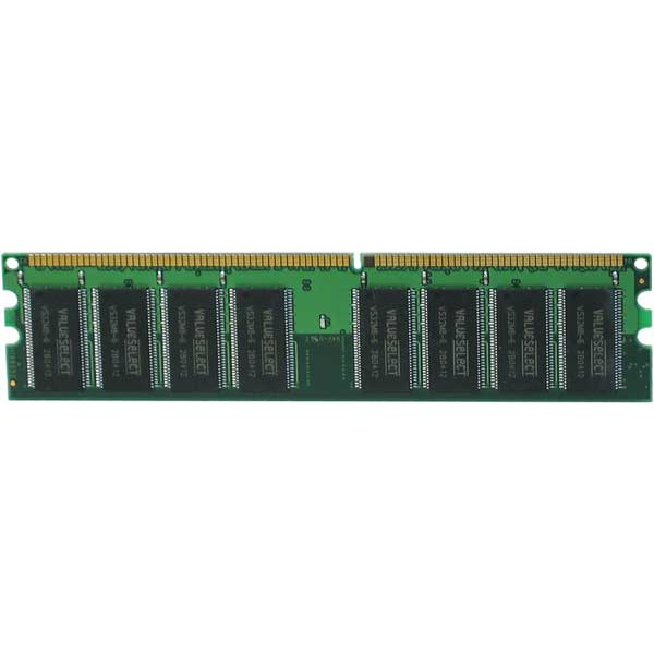 Mémoire PC Corsair Value Select 1 Go (2x 512 Mo) DDR 400 MHz CL 2.5 Kit Dual Channel RAM DDR PC3200 - VS1GBKIT400 (garantie 10 ans par Corsair)