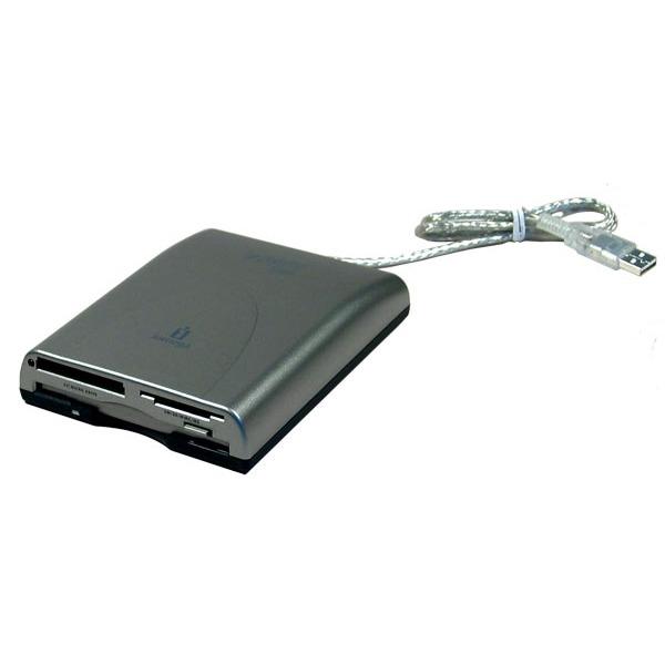 Lecteur graveur Iomega Lecteur de disquettes sur port USB + Lecteur de cartes mémoire 7-en-1 Iomega Lecteur de disquettes sur port USB + Lecteur de cartes mémoire 7-en-1