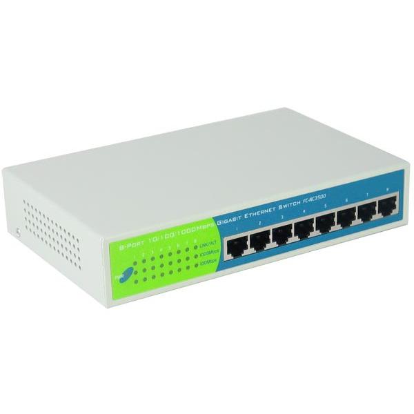 Switch Switch 8 ports 10/100/1000 Gigabit Switch 8 ports 10/100/1000 Gigabit