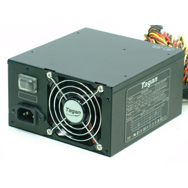Alimentation PC Tagan TG480-U01 - Alimentation 480W Black Dual Fan ATX Active PFC Tagan TG480-U01 - Alimentation 480W Black Dual Fan ATX Active PFC