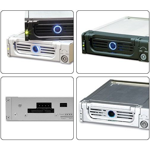 Rack HDD interne ICY BOX IB-128SK-B ICY BOX IB-128SK-B - Rack pour disque dur Serial ATA (noir)