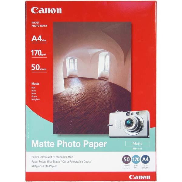 Papier imprimante Canon MP-101 - Papier photo mat (A4 50 feuilles) Canon MP-101 - Papier photo mat (A4 50 feuilles)