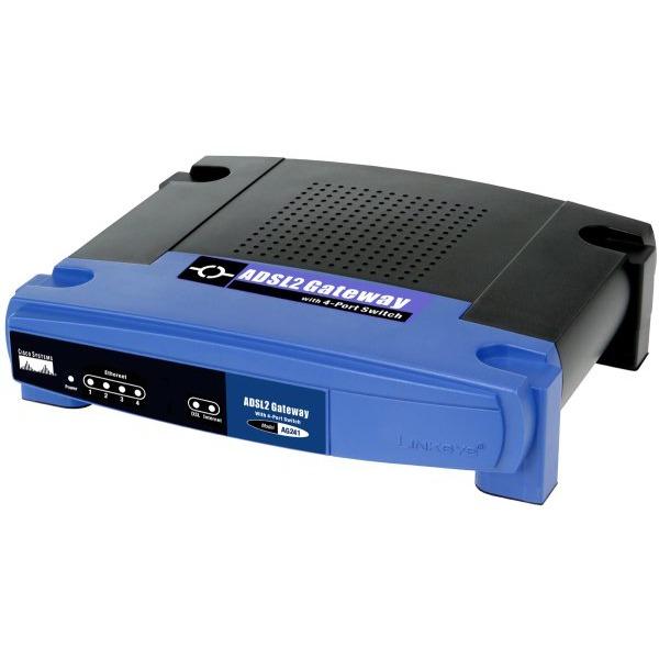 Modem & routeur Linksys AG241 Linksys AG241 - Routeur filaire avec Modem ADSL 2 intégré