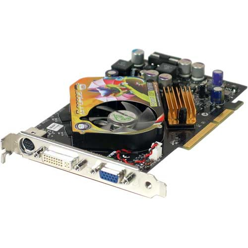 Carte graphique Point of View GeForce 6600 GT - 128 Mo TV-Out/DVI VIVO - AGP Point of View GeForce 6600 GT - 128 Mo TV-Out/DVI VIVO - AGP (NVIDIA GeForce 6600 GT)