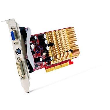 Carte graphique MSI NX6200AX-TD128LF MSI NX6200AX-TD128LF - 128 Mo TV-Out/DVI - AGP (NVIDIA GeForce 6200)