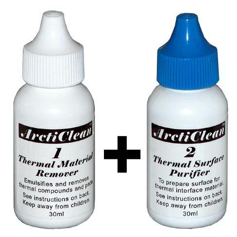 Ventilateur processeur ArctiClean Kit 60ml (30ml ArctiClean 1 + 30ml ArctiClean 2) ArctiClean Kit 60ml (30ml ArctiClean 1 + 30ml ArctiClean 2)