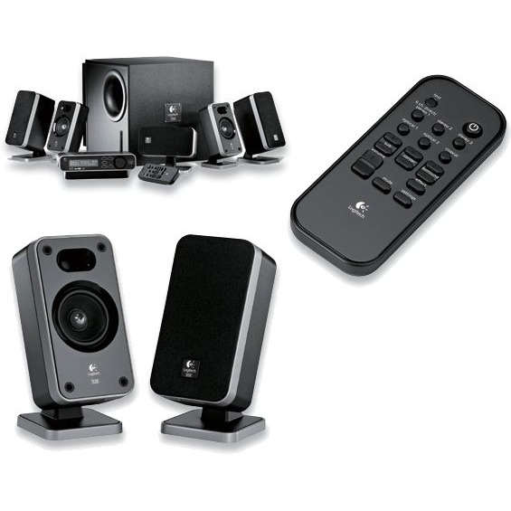 logitech z 5450 digital 5 1 speaker system enceinte pc logitech sur. Black Bedroom Furniture Sets. Home Design Ideas