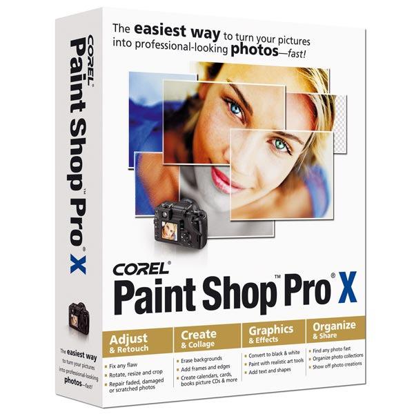 Logiciel graphisme & Photo Corel Paint Shop Pro X - Mise à jour (français, WINDOWS) Corel Paint Shop Pro X - Mise à jour (français, WINDOWS)