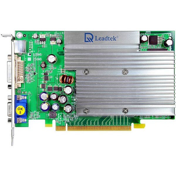 Carte graphique Leadtek WinFast PX6600 TD Heatsink Edition - 128 Mo TV-Out/DVI - PCI Express (NVIDIA GeForce 6600) Leadtek WinFast PX6600 TD Heatsink Edition - 128 Mo TV-Out/DVI - PCI Express (NVIDIA GeForce 6600)