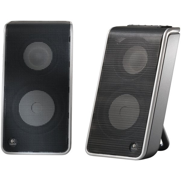 logitech v20 notebook speakers enceinte pc logitech sur. Black Bedroom Furniture Sets. Home Design Ideas