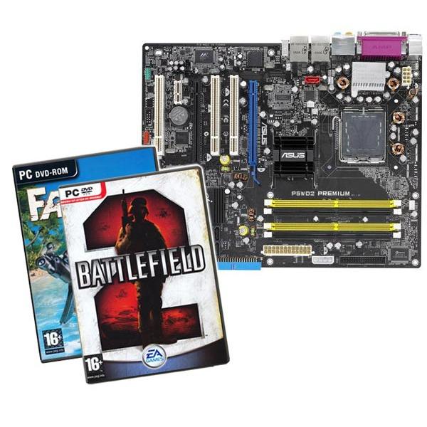 Carte mère ASUS P5WD2 Premium (Intel 955X Express) - ATX (+ Jeux Battlefield 2 et Far Cry) ASUS P5WD2 Premium (Intel 955X Express) - ATX (+ Jeux Battlefield 2 et Far Cry)