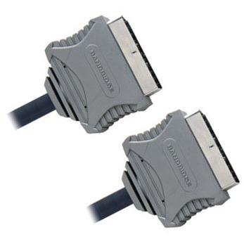 Câble antenne TV Bandridge Câble Péritel 21 broches Mâle/Mâle - 1.5 m Bandridge Câble Péritel 21 broches Mâle/Mâle - 1.5 m