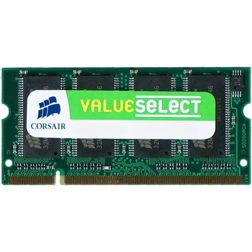 Mémoire PC portable Corsair Value Select SO-DIMM 1 Go DDR 333 MHz RAM SO-DIMM DDR PC2700 - VS1GSDS333 (Garantie 10 ans par Corsair)
